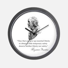 Ben Franklin Liberty Quote Wall Clock