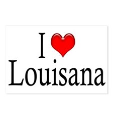I Heart Louisana Postcards (Package of 8)