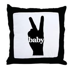Peace Baby Gear Throw Pillow