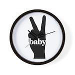 Peace Baby Gear Wall Clock