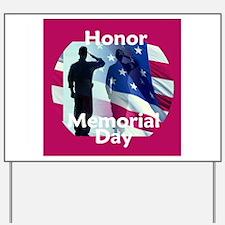 Memorial Day Yard Sign