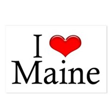 I Heart Maine Postcards (Package of 8)