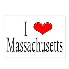 I Heart Massachusetts Postcards (Package of 8)