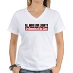 All Who Love Liberty Women's V-Neck T-Shirt