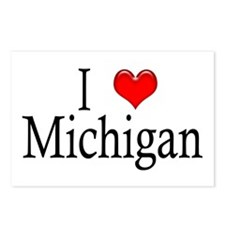 I Heart Michigan Postcards (Package of 8)