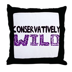 Conservatively Wild Throw Pillow