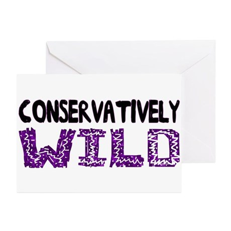 Conservatively Wild Greeting Cards (Pk of 20)
