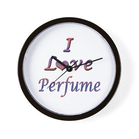 I Love Perfume Wall Clock
