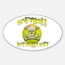 Not really soft Sticker (Oval)
