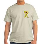 Yellow Ribbon Love Miss Soldier Ash Grey T-Shirt