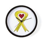 Yellow Ribbon Love Miss Soldier Wall Clock