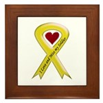 Yellow Ribbon Love Miss Soldier Framed Tile