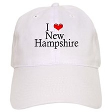 I Heart New Hampshire Baseball Cap (White)