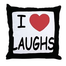 I heart laughs Throw Pillow