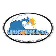 Sunset Beach NC - Waves Design Decal