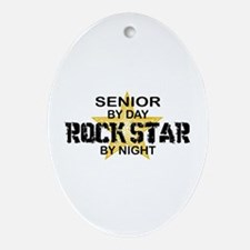 Senior Rock Star by Night Ornament (Oval)