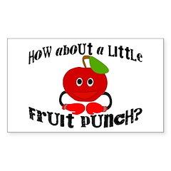 Fruit Punch Sticker (Rectangle 10 pk)