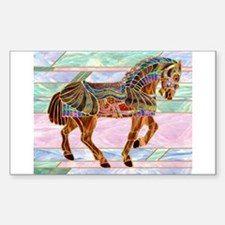 Armoured Carousel Horse Rectangle Decal