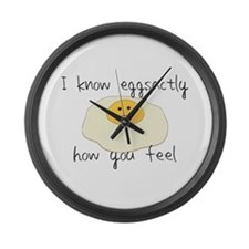 Eggsactly How You Feel Large Wall Clock
