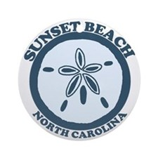 Sunset Beach NC - Sand Dollar Design Ornament (Rou