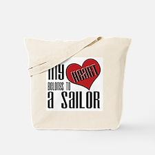 Heart Belongs Sailor Tote Bag