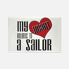 Heart Belongs Sailor Rectangle Magnet