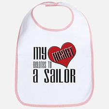 Heart Belongs Sailor Bib