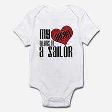 Heart Belongs Sailor Infant Creeper