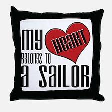 Heart Belongs Sailor Throw Pillow