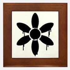Drippy Flower Framed Tile