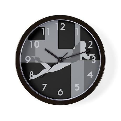 Grey Sexy Female Pin-Up, Wall Clock