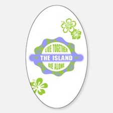 LOST - The Island Hibiscus blue Sticker (Oval)