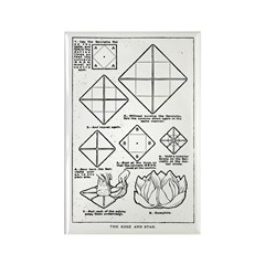 The Rose and Star Rectangle Magnet (10 pack)