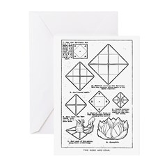 The Rose and Star Greeting Cards (Pk of 10)