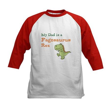 Gay Dinosaur Dad Kids Baseball Jersey
