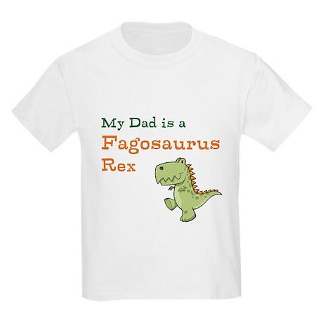 Gay Dinosaur Dad Kids Light T-Shirt