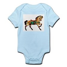 Malachite Carousel Horse Infant Creeper