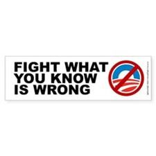 Fight What Is Wrong, Bumper Sticker