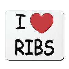 I heart ribs Mousepad