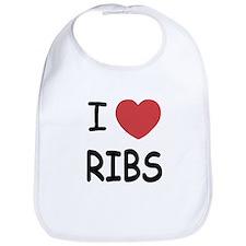 I heart ribs Bib