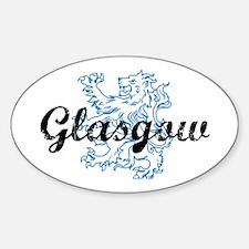 Glasgow Scotland Sticker (Oval)
