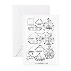 Fleur de Lis Varieties Greeting Cards (Package of