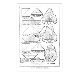 Fleur de Lis Varieties Postcards (Package of 8)