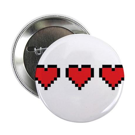"3 Hearts 2.25"" Button"