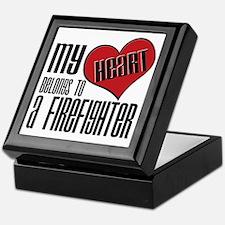 Heart Belongs Firefighter Keepsake Box