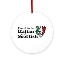 Scottish and Italian Ornament (Round)