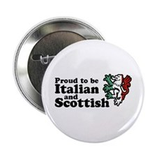 "Scottish and Italian 2.25"" Button"