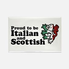 Scottish and Italian Rectangle Magnet