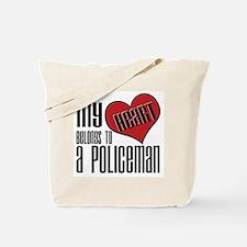 Heart Belongs Policeman Tote Bag