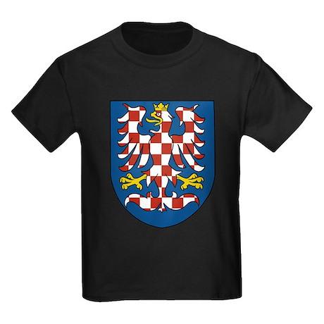 Moravia Coat of Arms (Front) Kids Dark T-Shirt